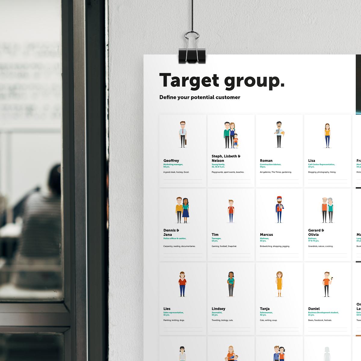 Target group header