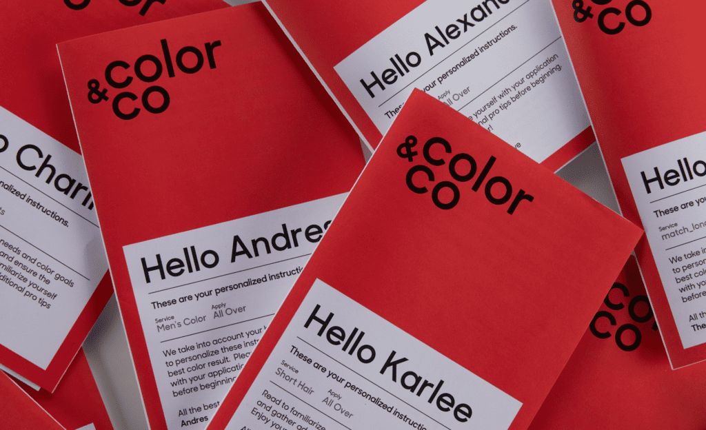 L'Oreal's Startup personal pamflets