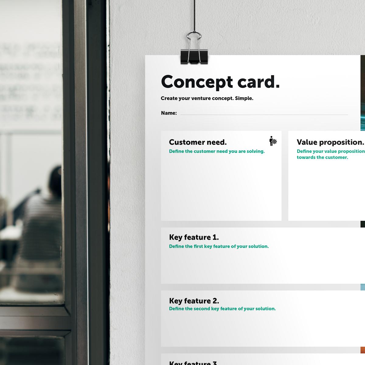 Concept card Header