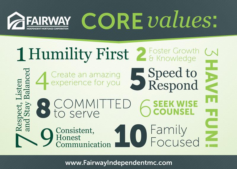 Fairway's Core Values