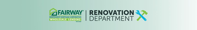 Renovation Department banner