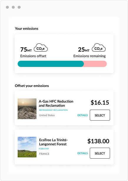 Sustain.Life Carbon Offset Projects
