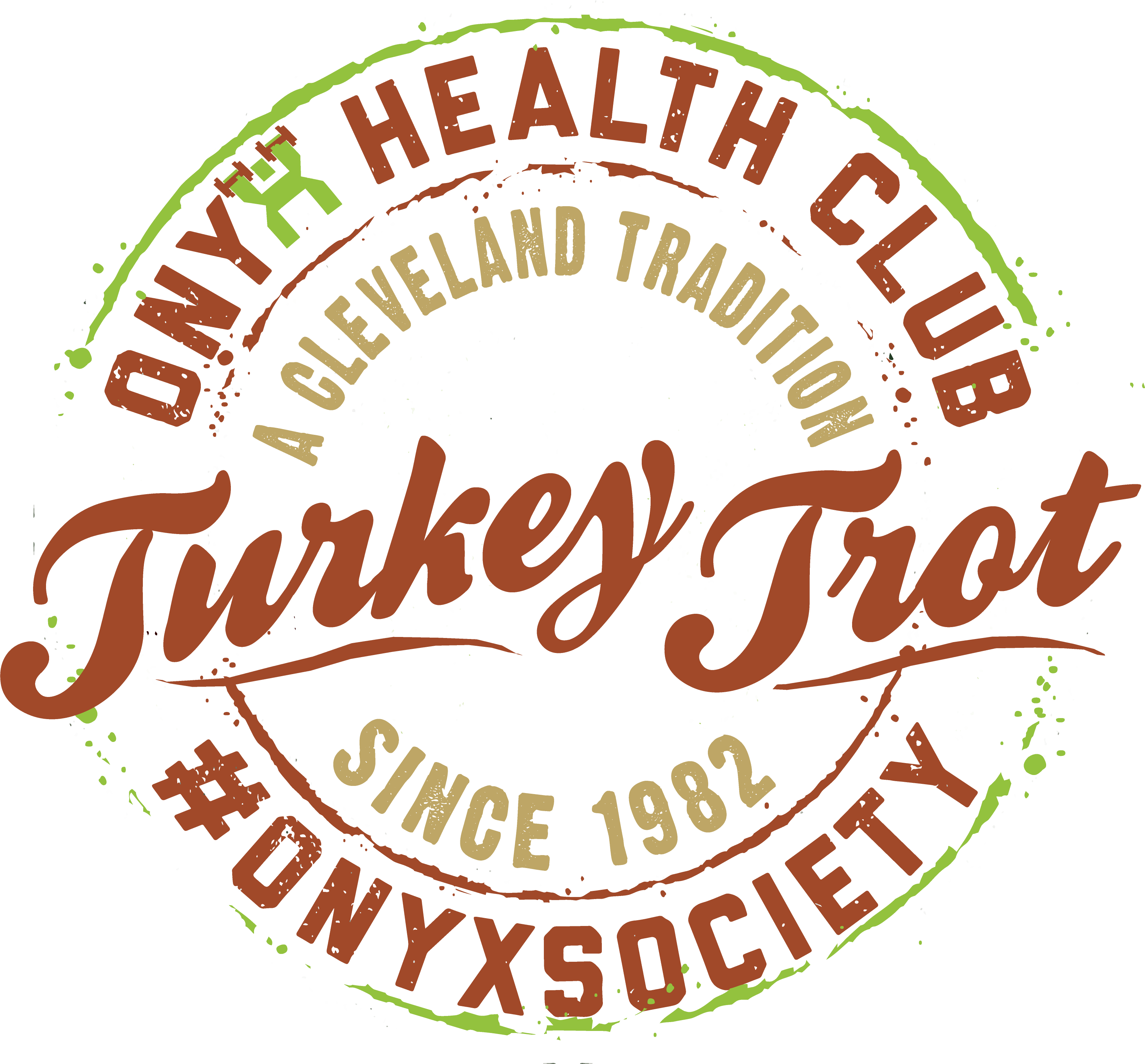 The ONYX Health Club Cleveland Turkey Trot Logo