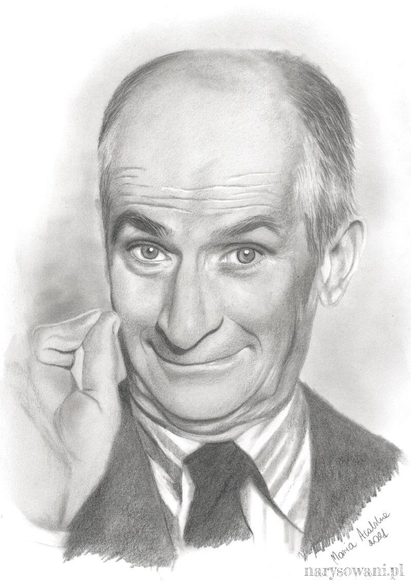 Portret łysego, starszego mężczyzny.