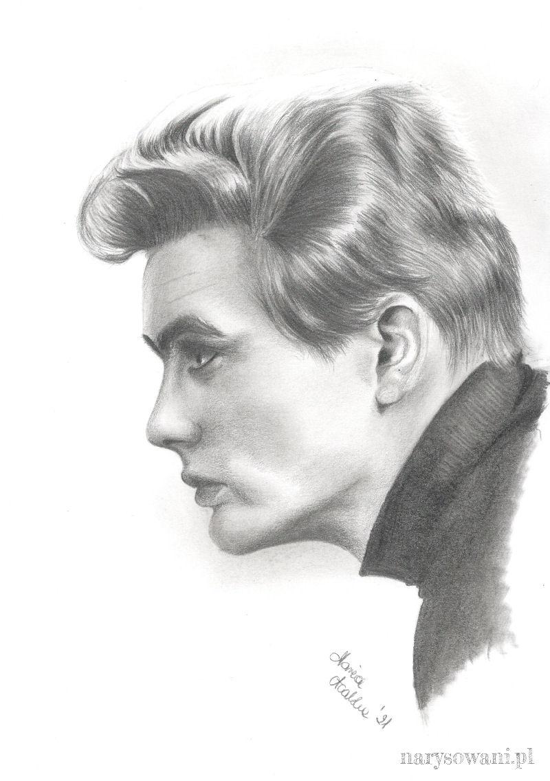 Profil młodego mężczyzny o skupionym wyrazie twarzy.