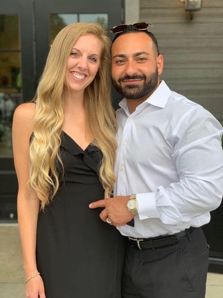 Emil Gamidov With His Beautiful Wife At An ONYX Health Club 24/7 Location Grand Opening