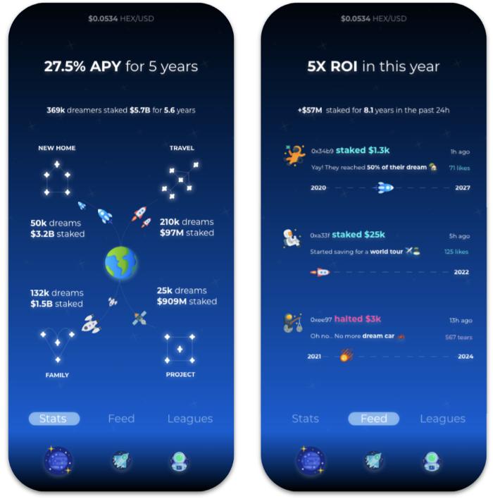 Staker App UI Screenshot