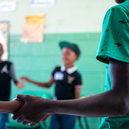 alunos praticam saúde mental na escola