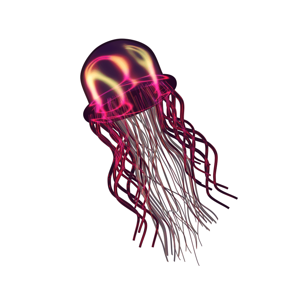 Red Jellyfish named Relly