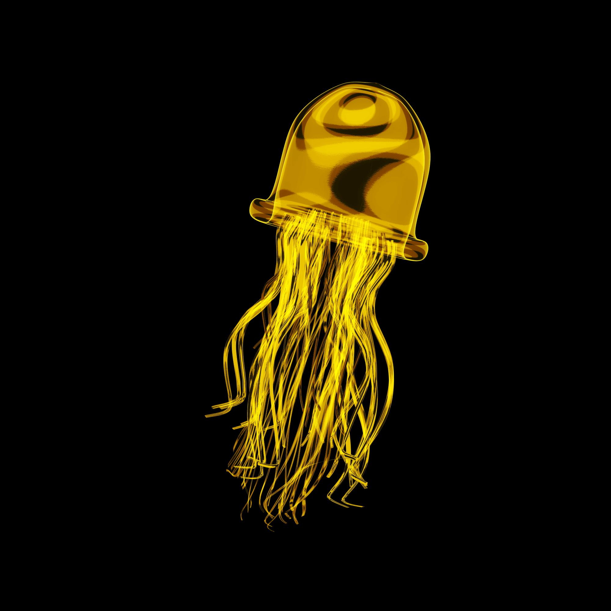 Jellybee, the bee themed jellyfish