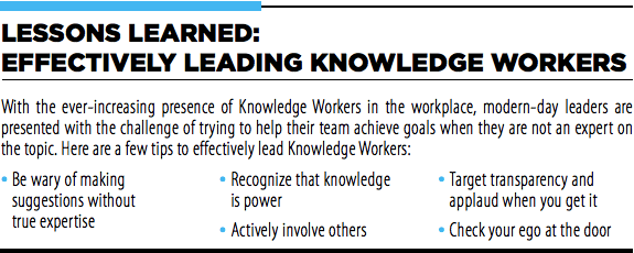 The leader as the facilitator: How to effectively lead knowledge workers | peopleHum