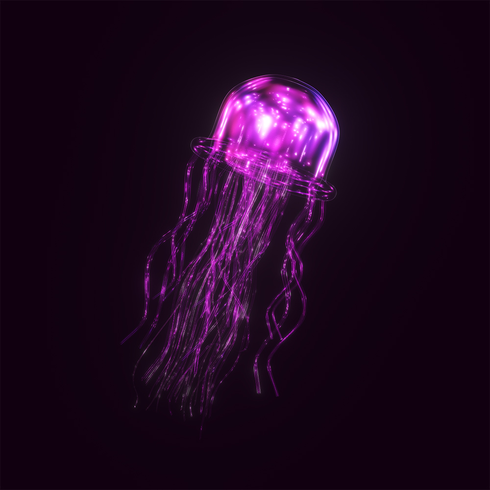 Jelly, the electric pink jelly which leads and serves all other jellyfish in the Jellysquad. Jelly is kind, humble, playful, bold, and shy.