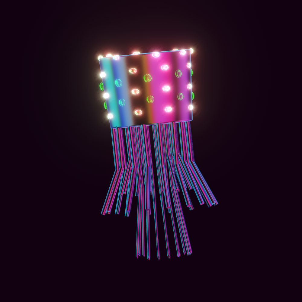 Robojelly is a robotic jellyfish which has officially joined the Jellysquad. They are the first robotic jelly. They're covered in green and gold glowing lights, with a metallic surface.