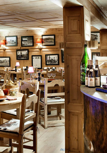 Restaurant spécialités fromagères Megève