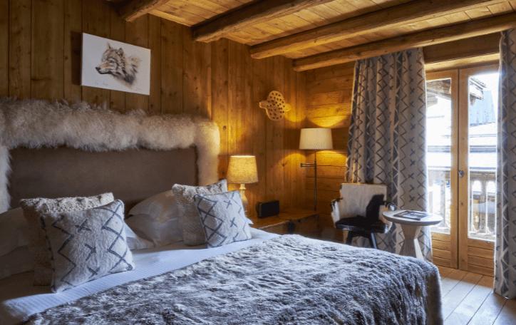 Chambres cosy hôtel Megève Fermes de Marie