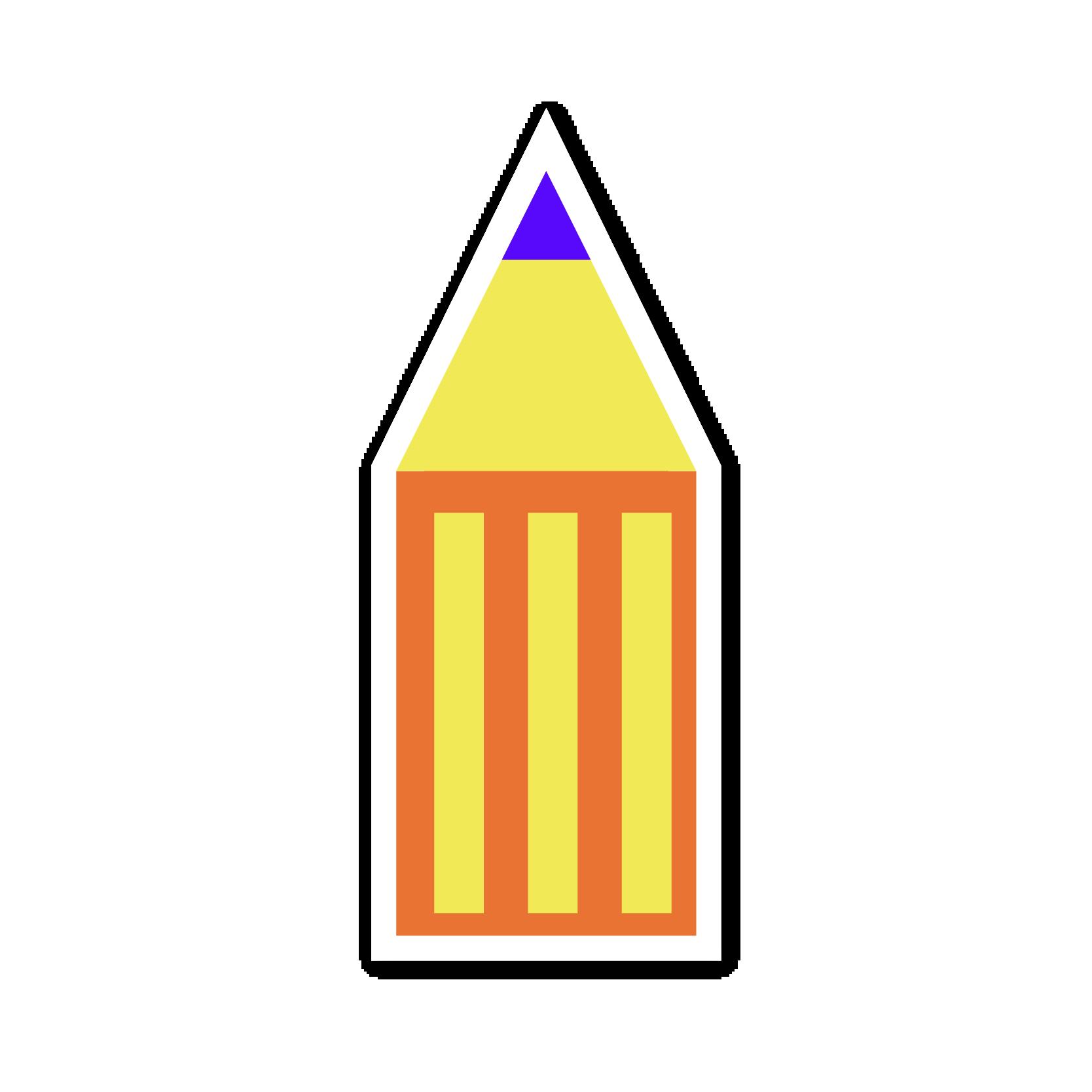 A pencil sticker