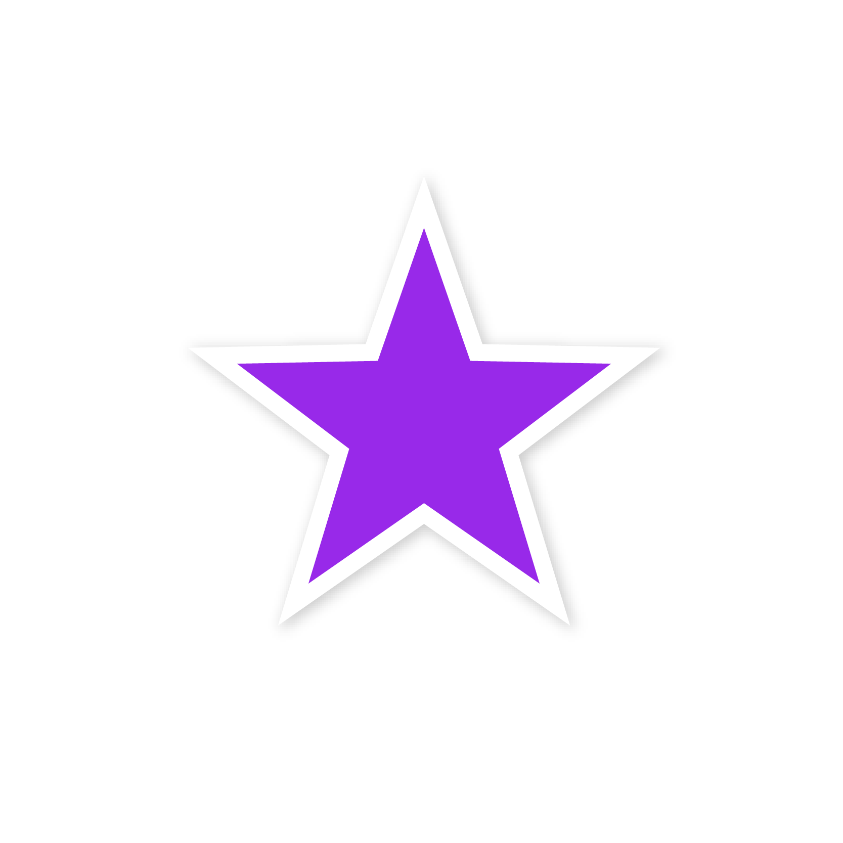 A violet star sticker
