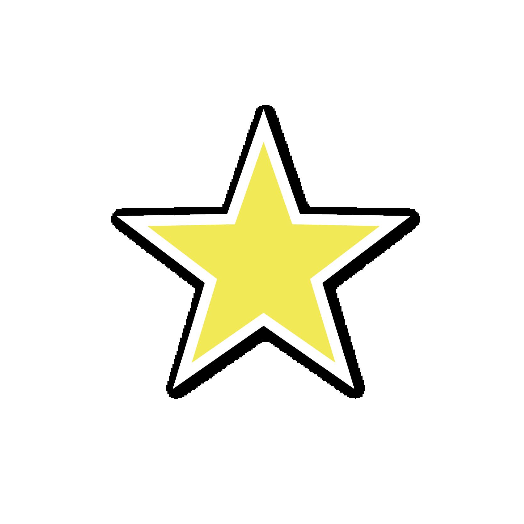 A yellow star sticker