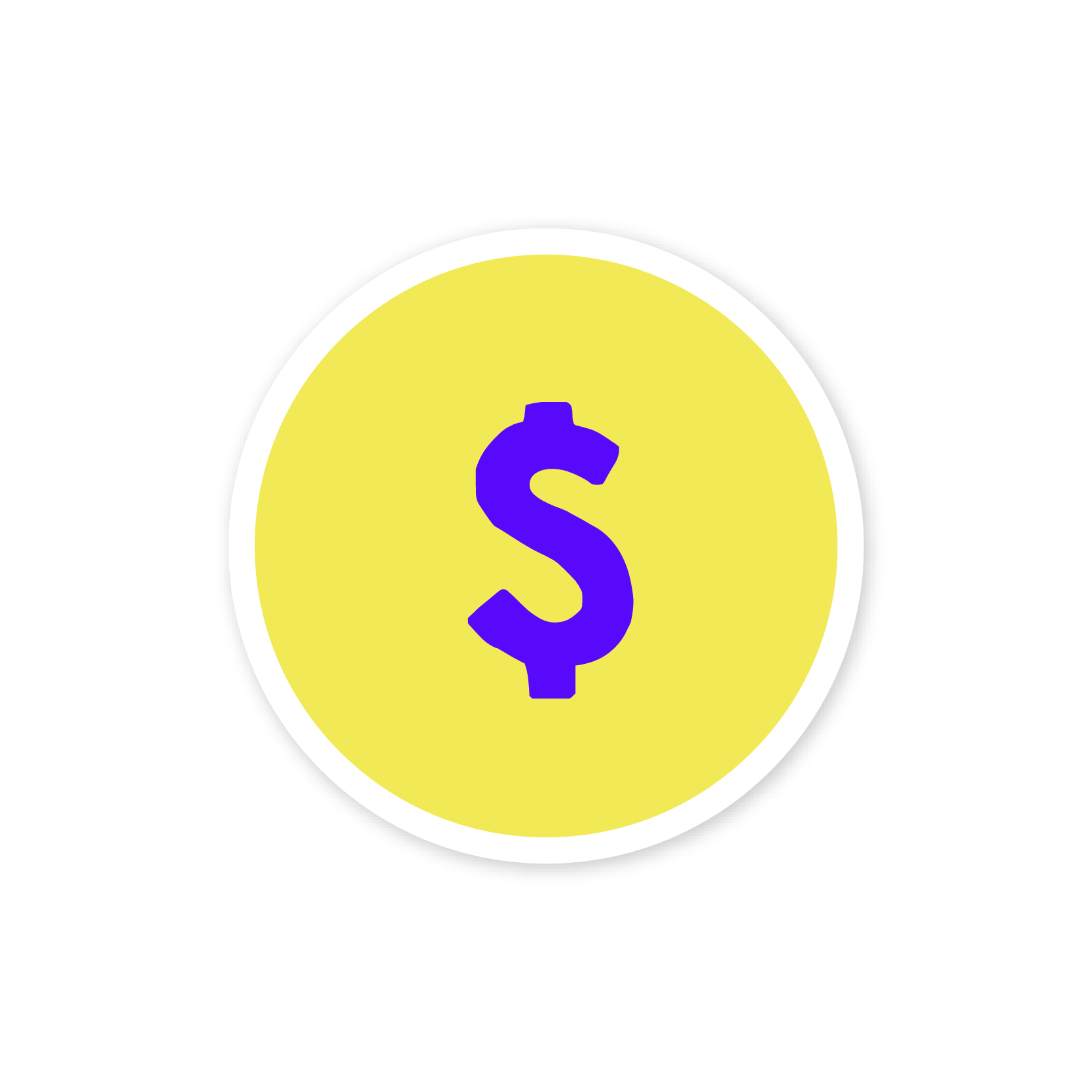 A yellow sticker with a dollar sign
