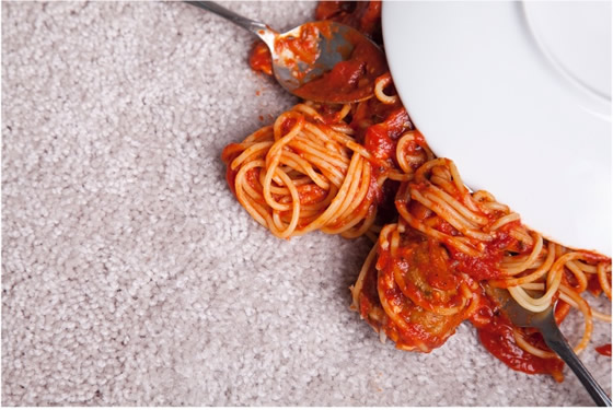 Remove Tomato Sauce stains from carpet
