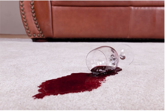 Remove Red Wine Stain from Carpet
