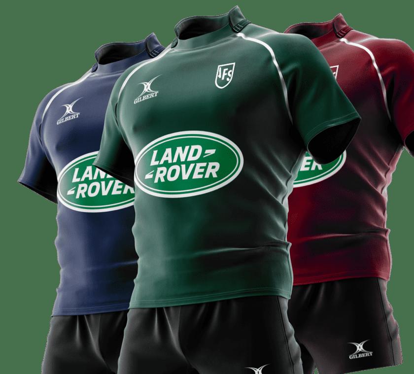 Simulation de tenues Gilbert floqués Land Rover
