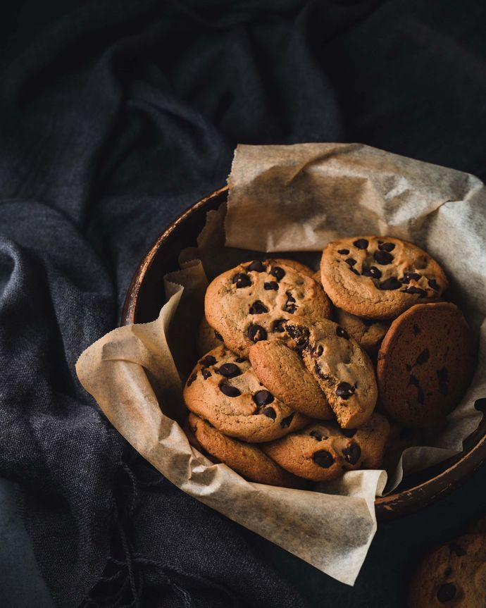 A basket of chocolate chip cookies [Unioncrate]