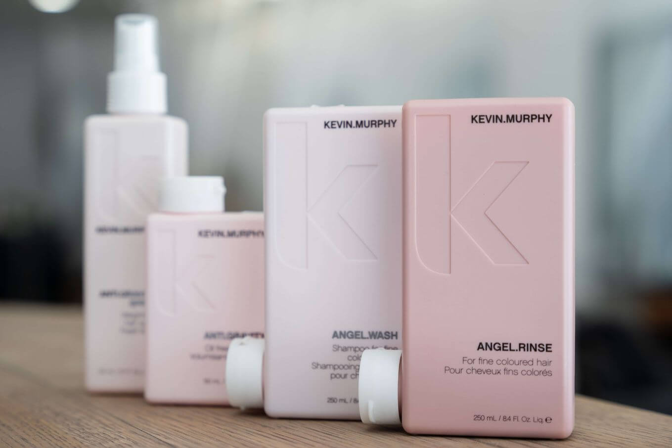 Bottles of Kevin Murphy shampoo and haircare [Unioncrate]
