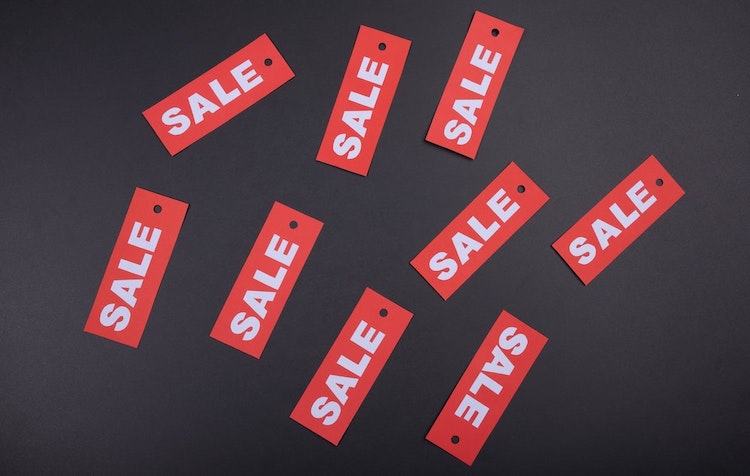 Promotional sale tags