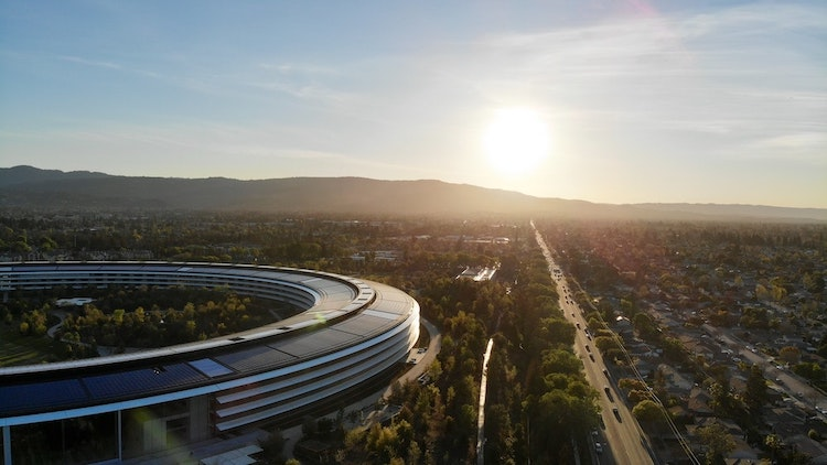 A view overlooking Apple Park in Cupertino, California