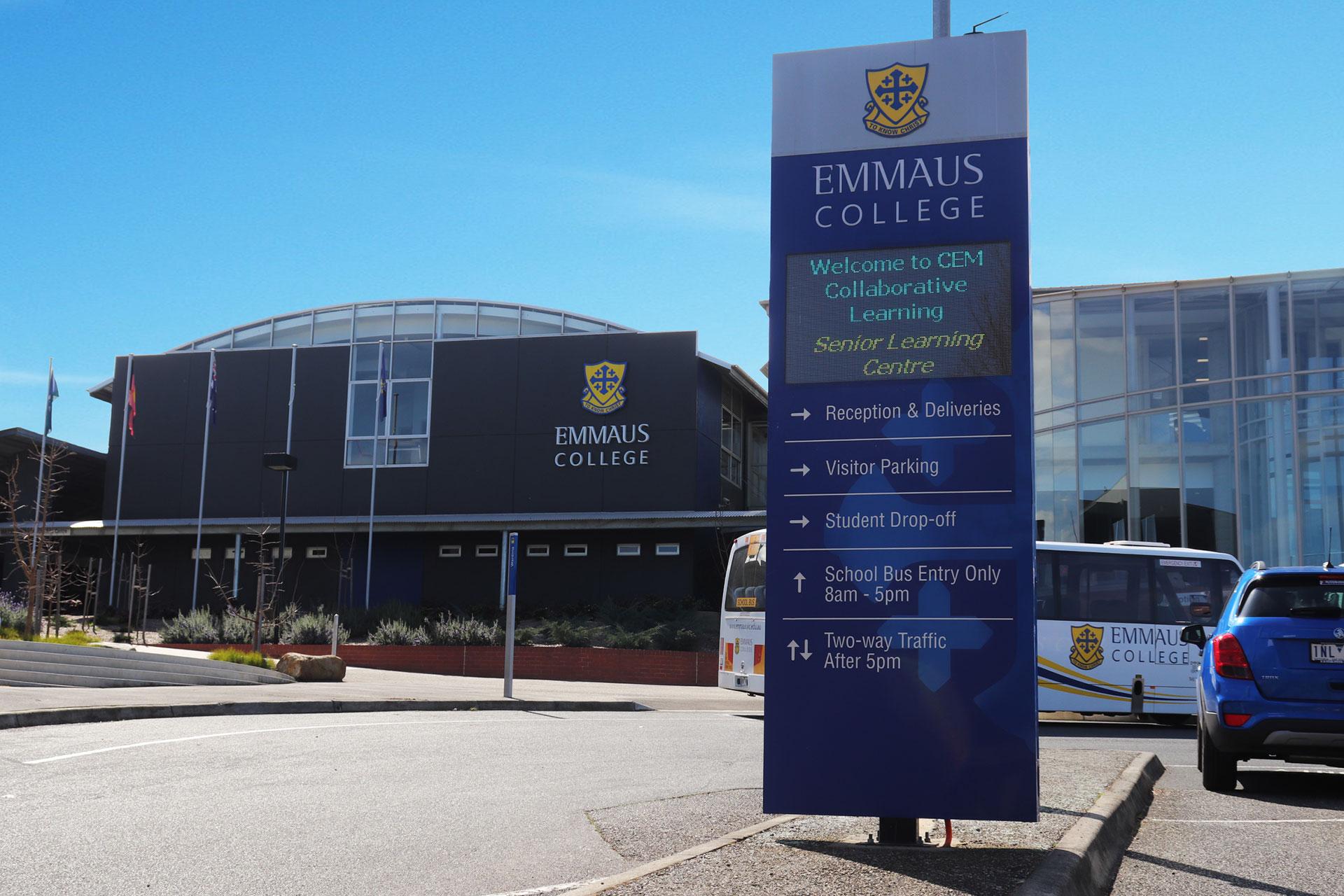 Emmaus Backlit Signage – Gailee Centre