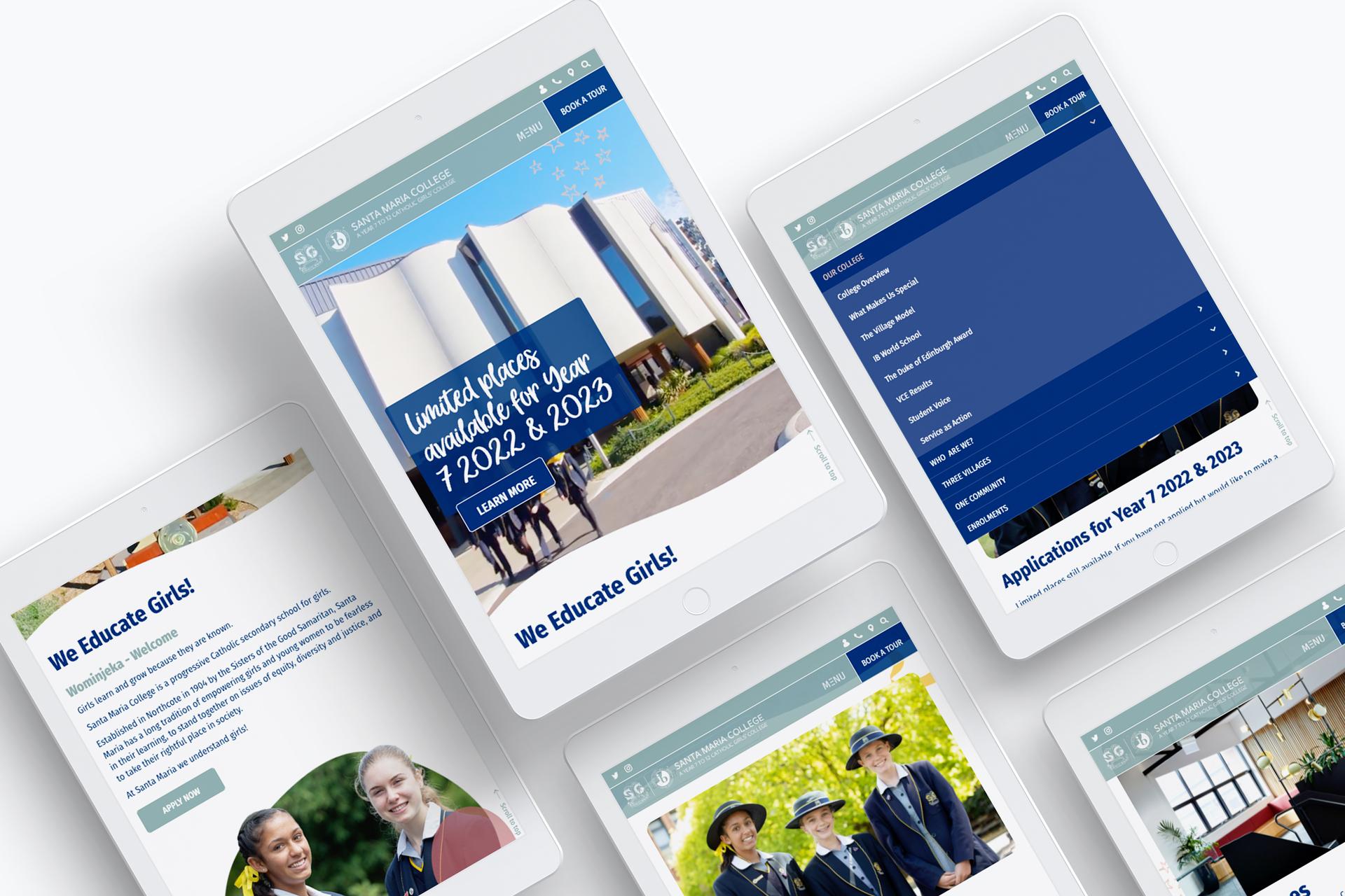 Santa Maria Website Redesign