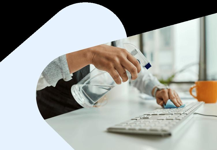 Sanitization of a keyboard