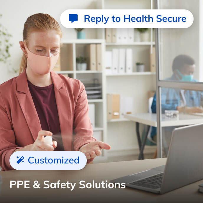 Screenshot of Thriver platform highlighting ppe and safety solutions