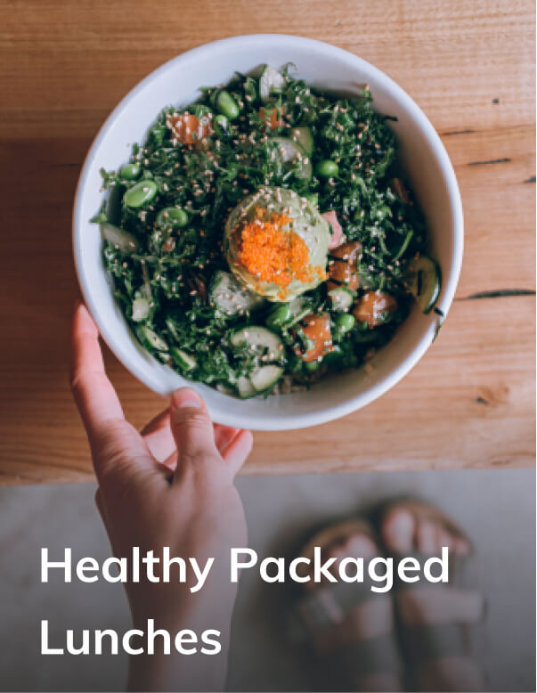 Packaged healthy lunch