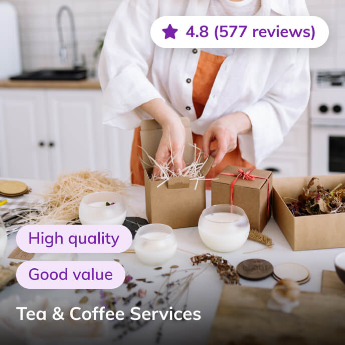 Screenshot of Thriver platform highlighting tea and coffee service