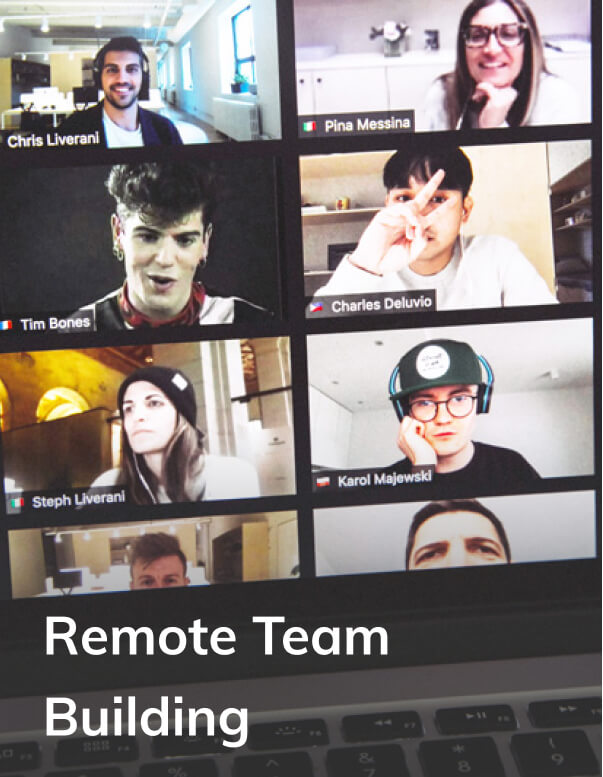 Team meeting on a video conference
