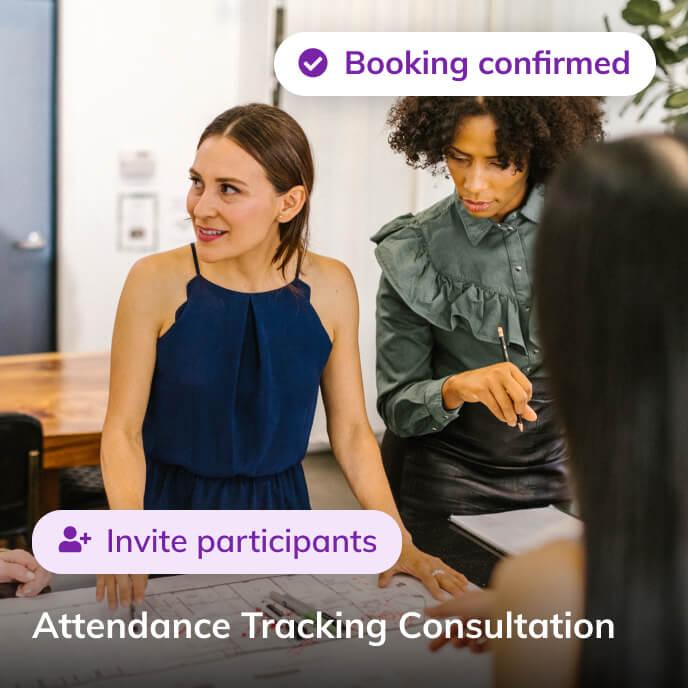 Screenshot of Thriver platform highlighting an attendance tracking consultation service