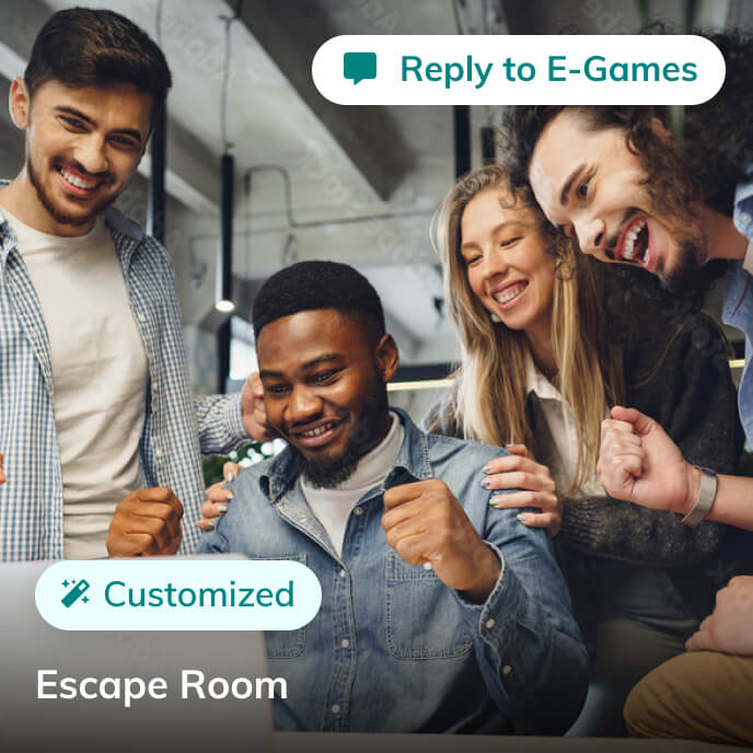 Screenshot of Thriver platform highlighting an escape room service