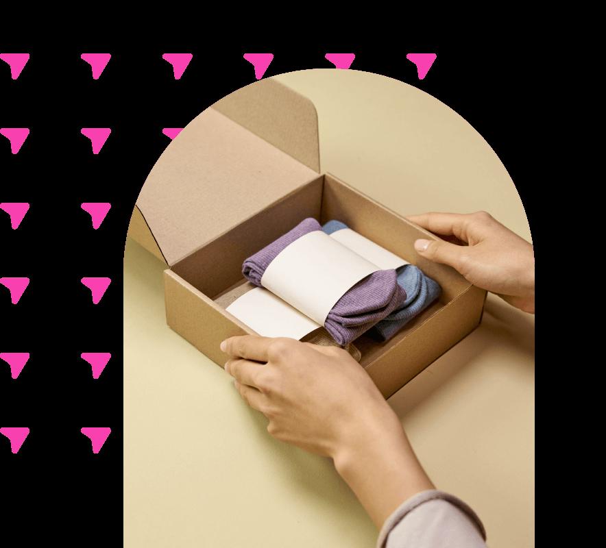 Gift box with three pairs of socks