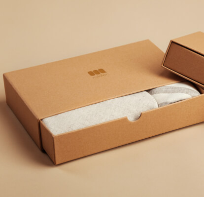 Box of custom swag