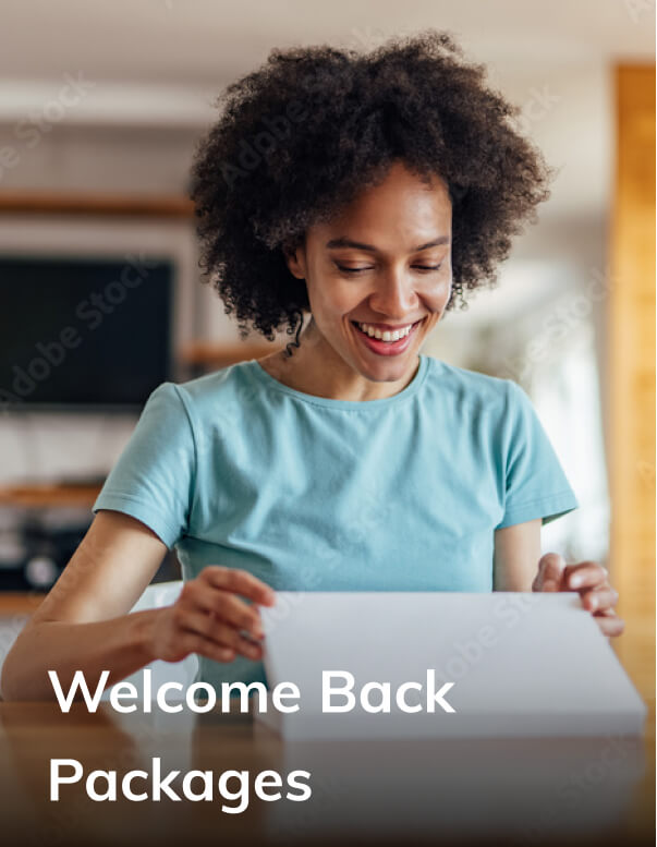 Welcome back packages
