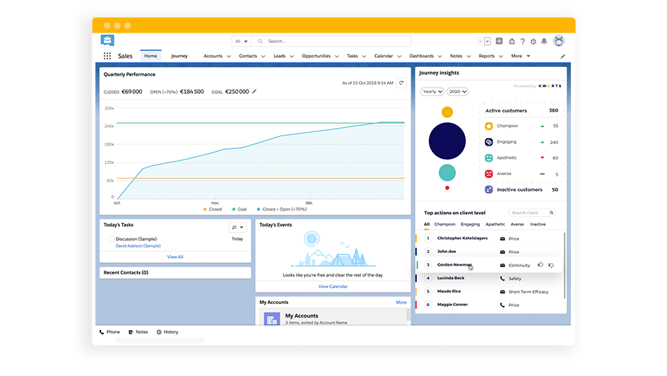 Seamless integration with your CRM