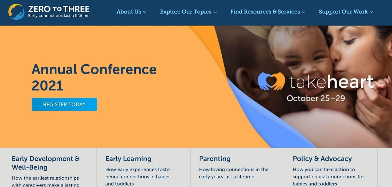Nonprofit web design: Zero to Three