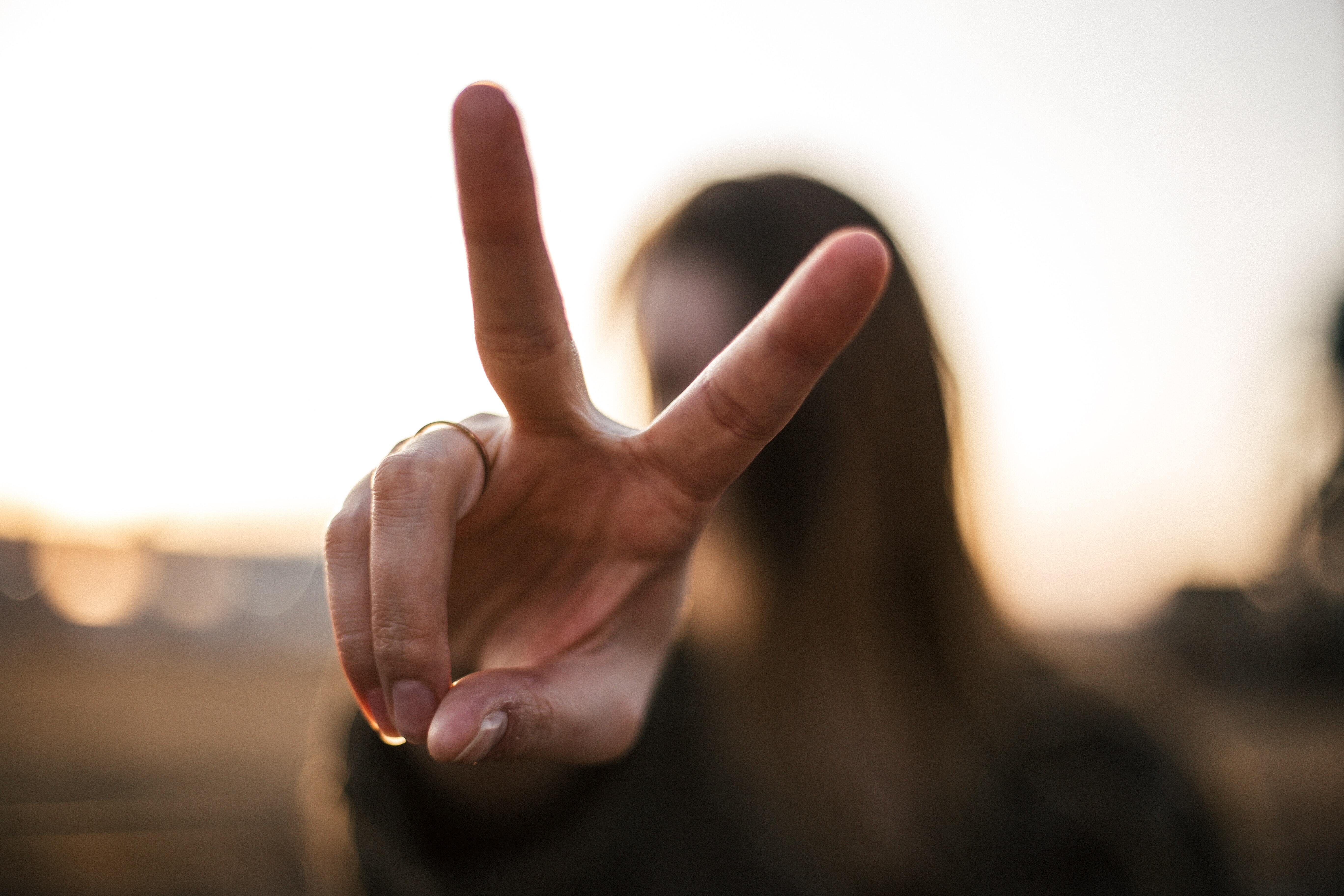 Priscilla Du-Preez Via Unsplash Peace symbol