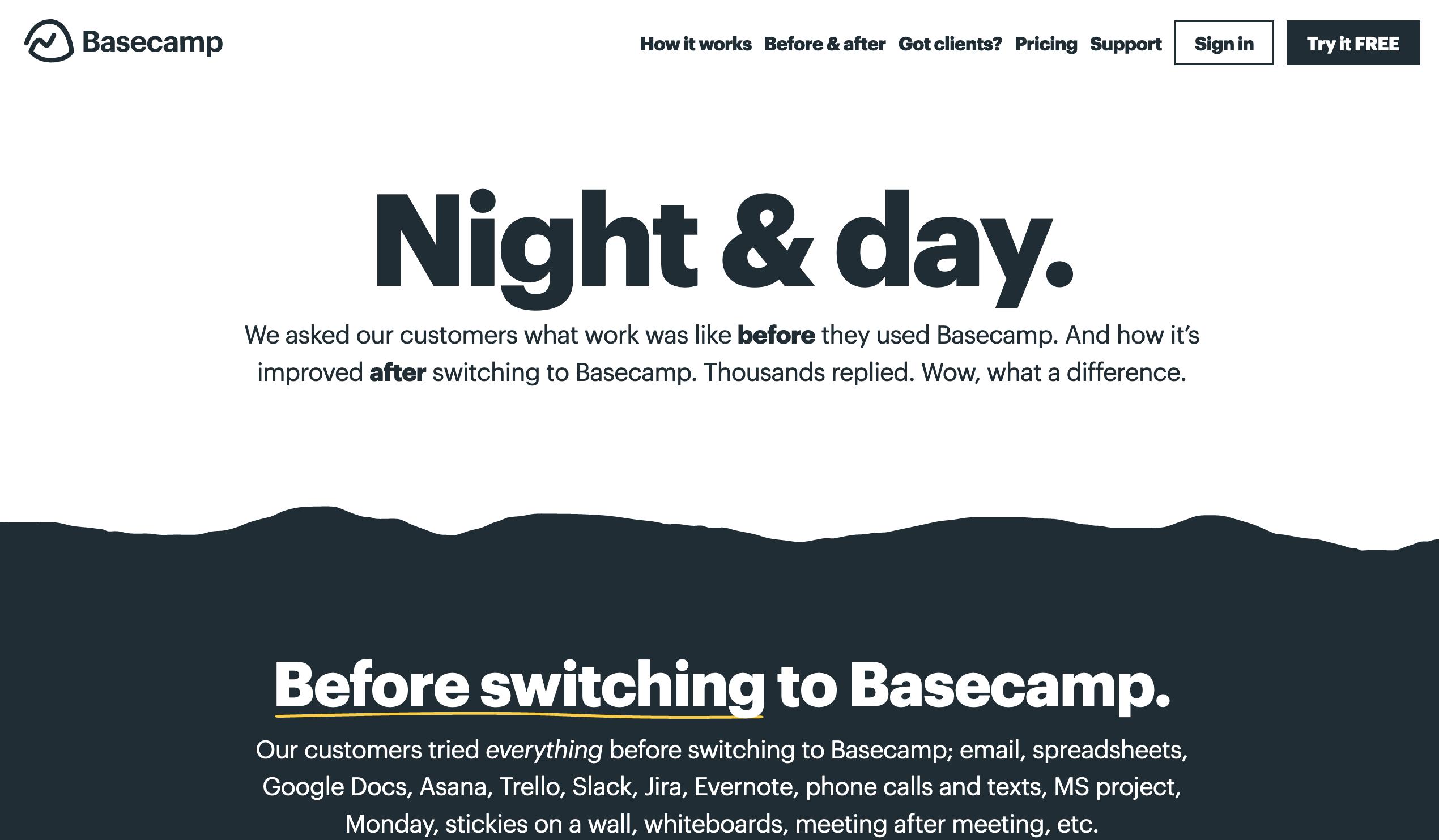 Basecamp website headlines-1