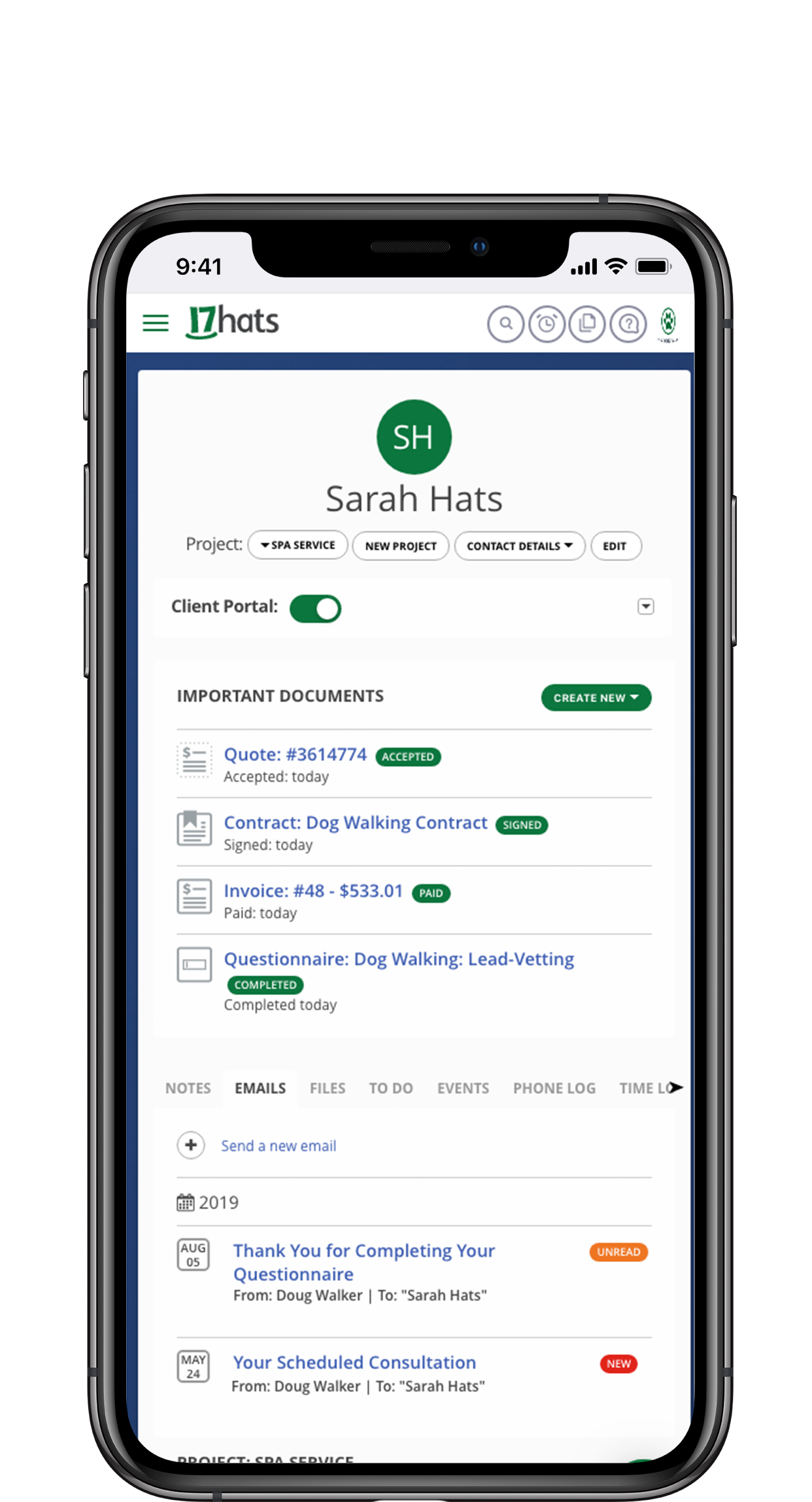 17hats Mobile App for Android and Apple
