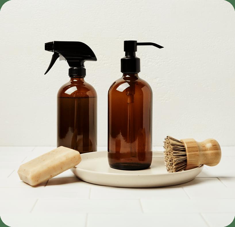 Essentials shop pump bottles and brushes