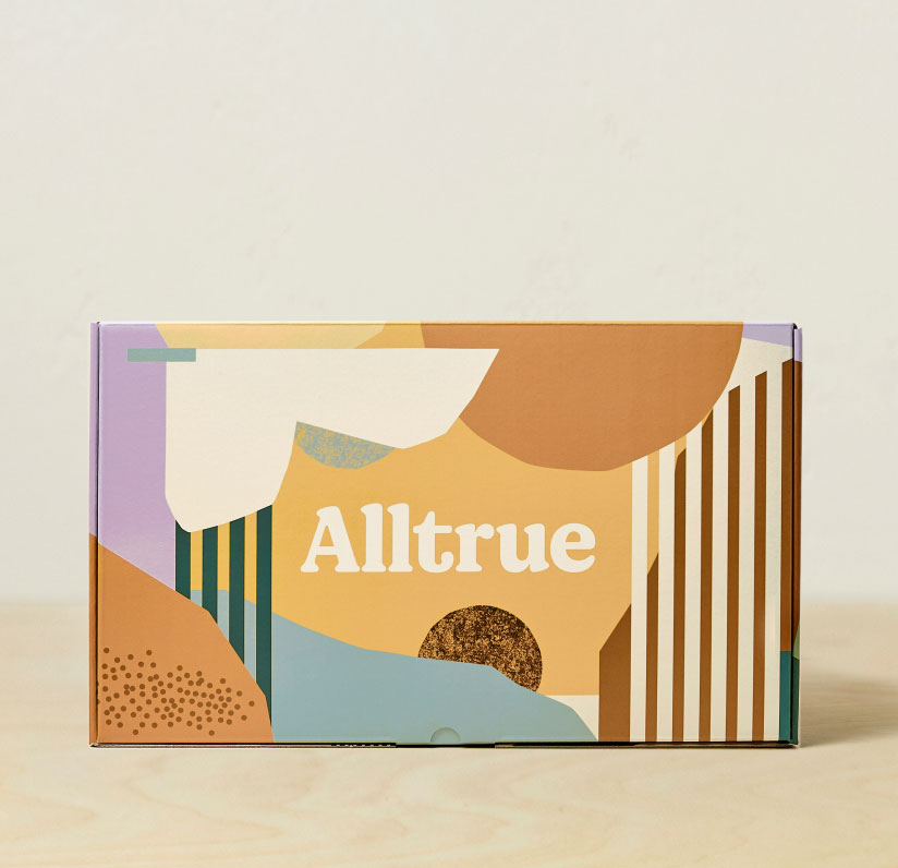 Colorful Alltrue box designed by Jordan Amy Lee.