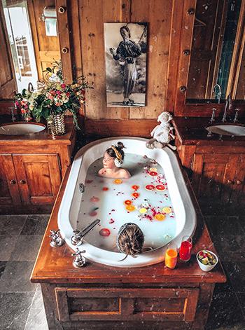 Salle de bain - Hotel Mont-Blanc Megève